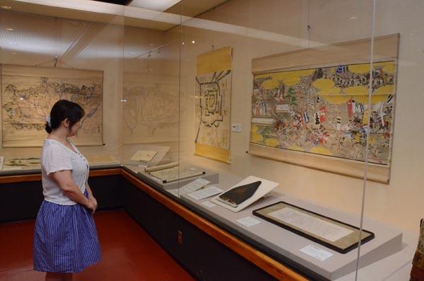 814秋元家の資料の中から合戦図を中心に展示している企画展