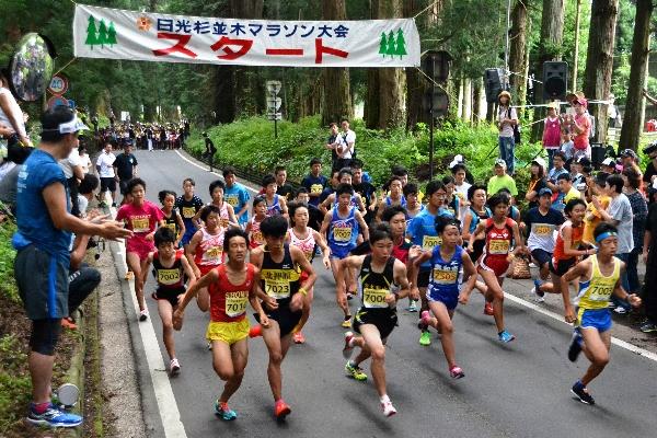 約2500人が参加した第11回日光杉並木マラソン大会