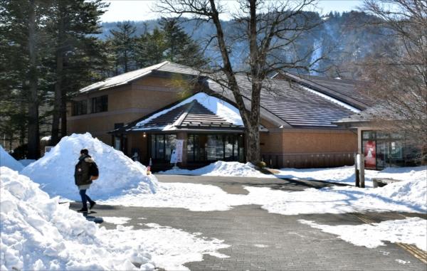 レンタサイクルシステム設置が予定される県日光自然博物館周辺=16日午前、日光市中宮祠