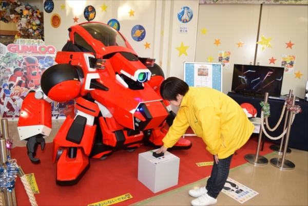 町おもちゃ博物館に展示されている「ガムロック零号機」