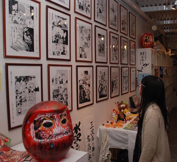 0309複製原画やドラマの小道具が展示された会場
